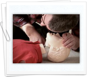 Children learn how to perform CPR