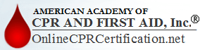 Online CPR and First Aid Certification Courses Logo for American Academy of CPR & First Aid, Inc.