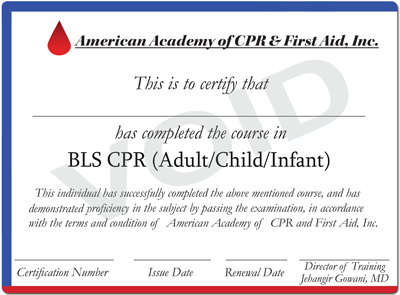 Wall Certificates  First Aid Certificate Template