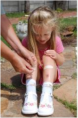 first aid given on a child