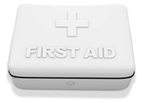 First aid training box