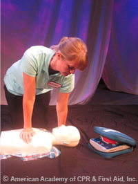 Chest Compression using one hand technique cpr