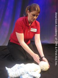 Infant checking pulse